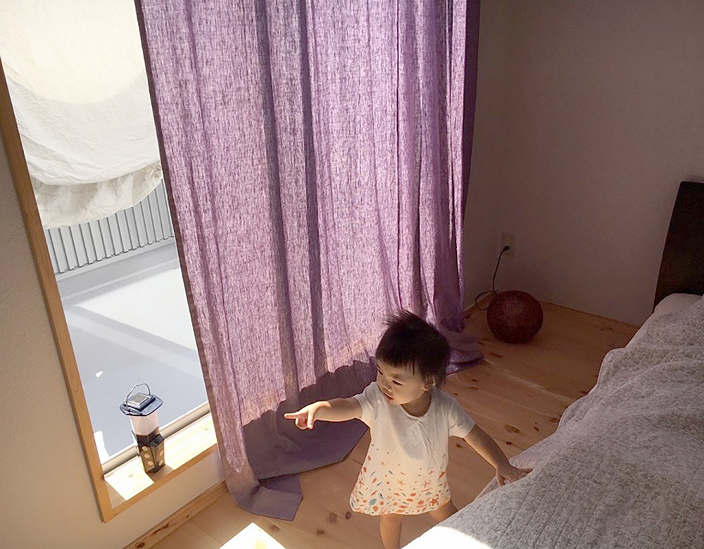 Lif/Lin(リフリン)リネンのオーダーカーテン 綺麗な紫色