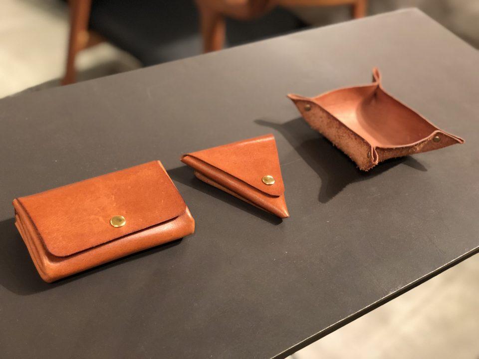 コインケースと革小物入れをボー・デコールのランドセルワークショップで作ります