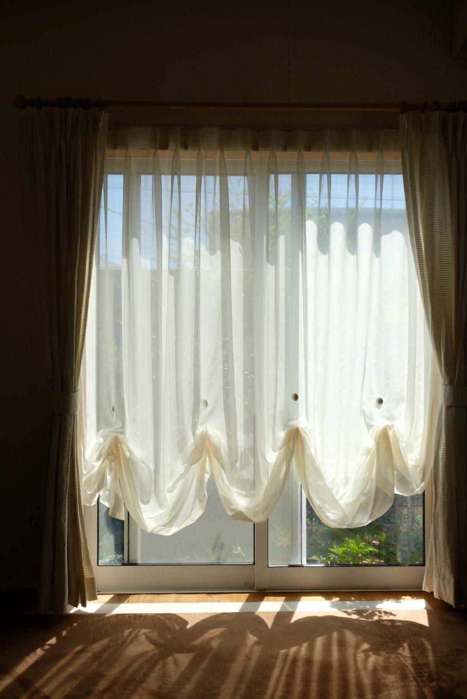 正面からのカーテン