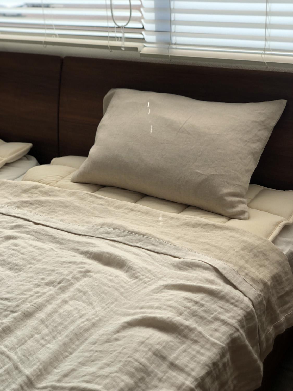 ダブルガーゼのカバーは夏場も肌触りも気持ち良く過ごせます