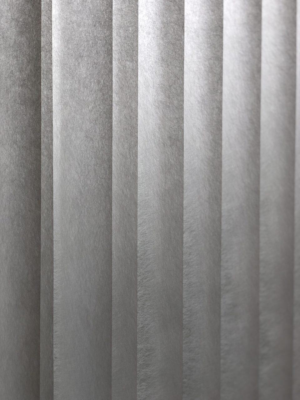 タチカワブラインドの半透明の縦型ブラインドです