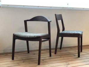 新潟市の無垢家具は、シキファニチアのウォールナット材のダイニングチェアーを扱っております