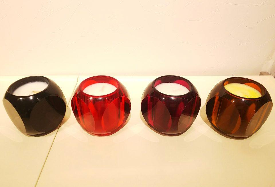アロマキャンドル 『ダイス』 カラー、香りの種類