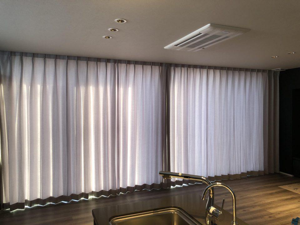 新潟市のモダンなご新居にカーテンを納品いたしました