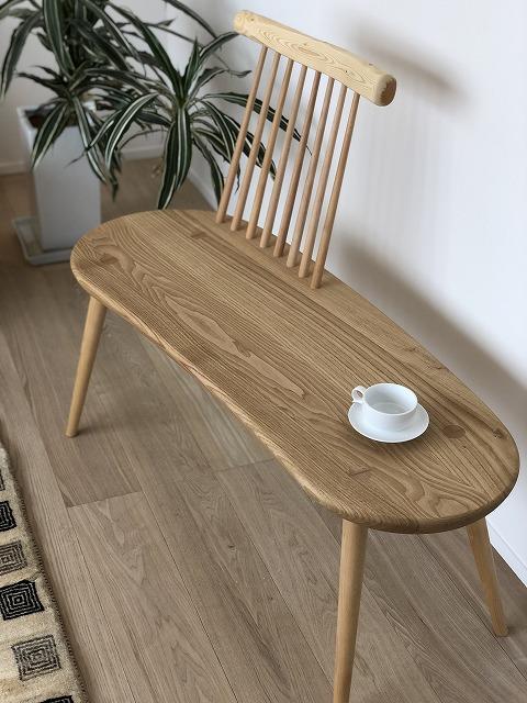 kinoeのベンチはデザインもかわいく、新潟市の家具店ボーデコールでも人気です