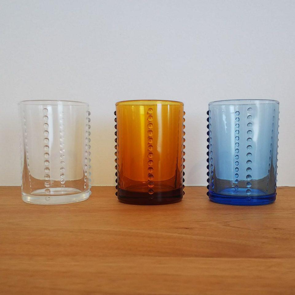 グラス 3色 クリア・アンバー・ブルー