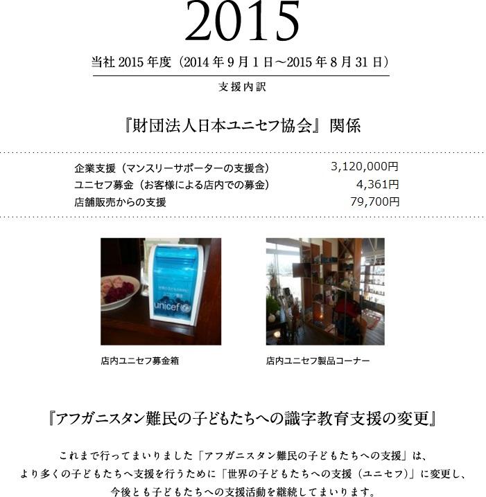 2015年度 支援活動報告