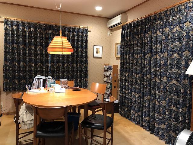ウィリアム・モリスのカーテンを燕市に納品いたしました