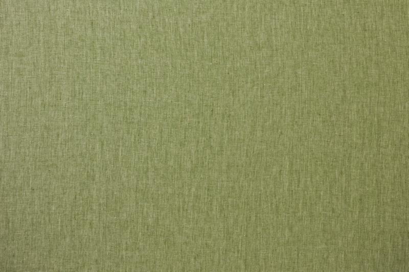グリーンのドレープカーテンの生地見本です。