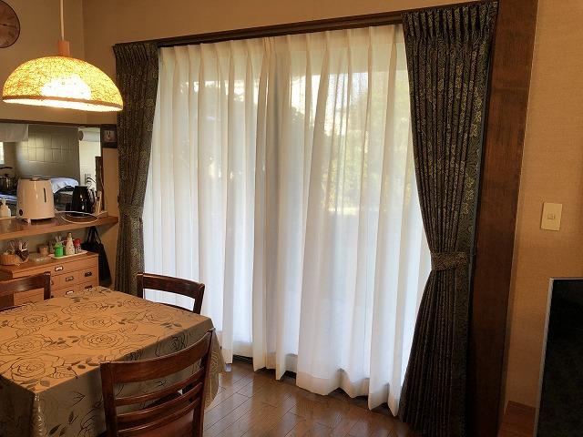 ウィリアムモリスのラーモのカーテンを納品いたしました