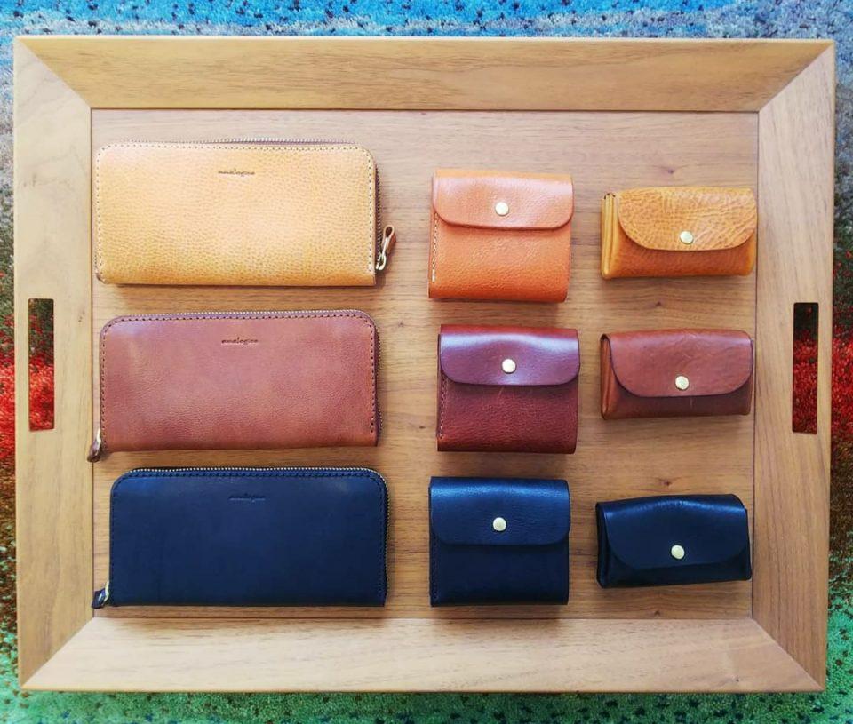 3種類の革財布が入荷しました。