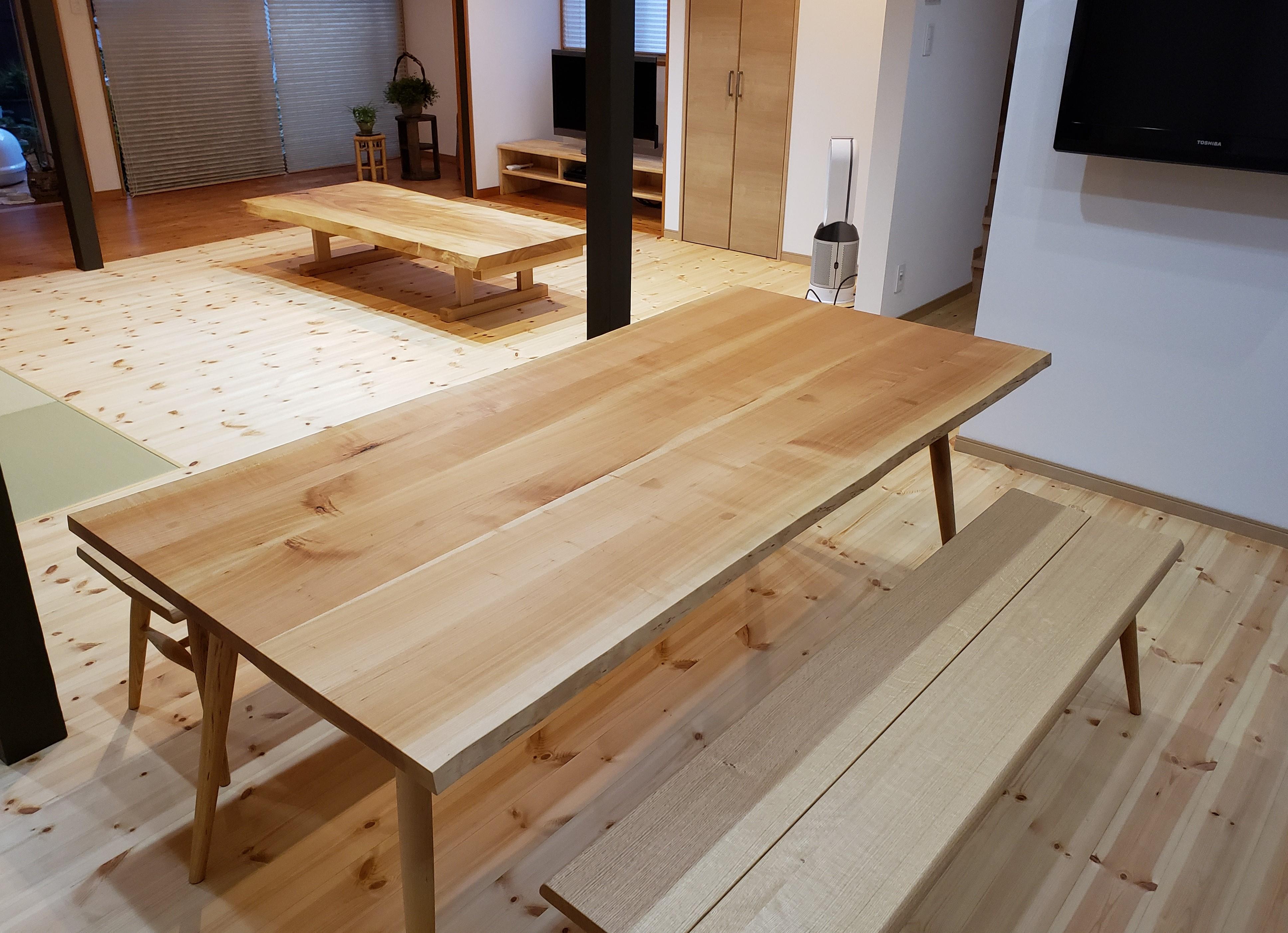 新潟家具 ダイニングテーブル リビングテーブル