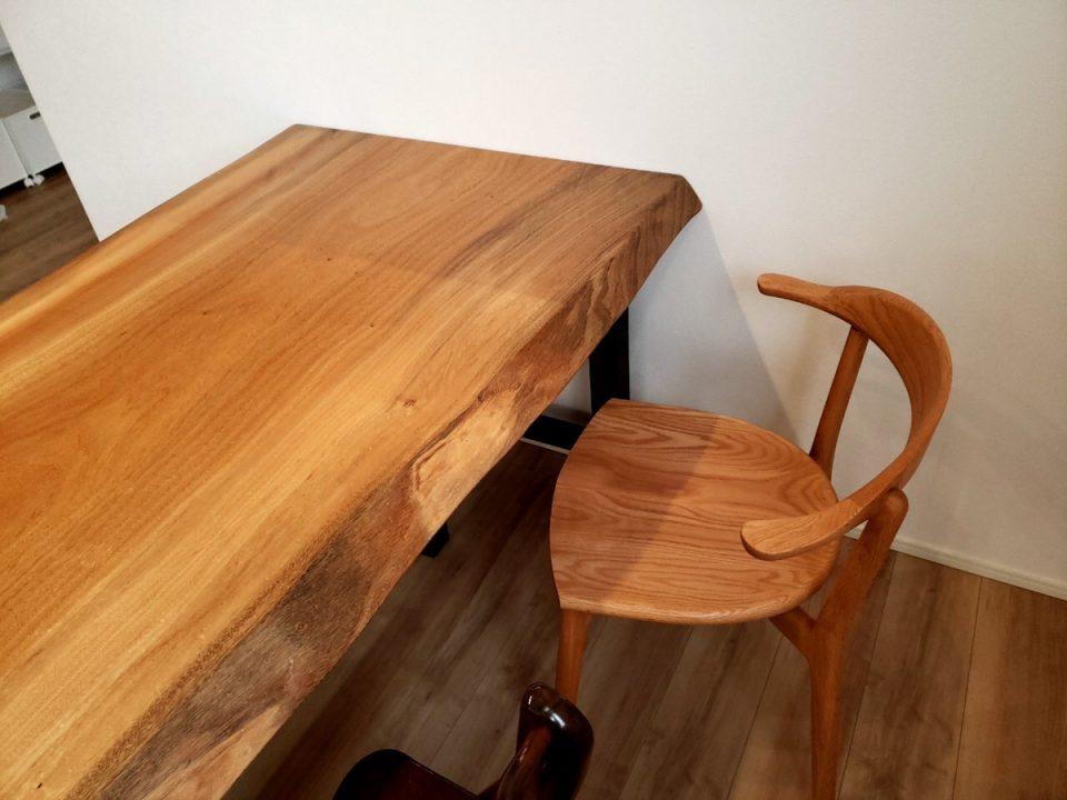 楠 一枚板 テーブル 椅子