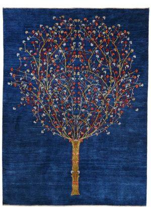 ブルー 生命の樹 ギャッベ
