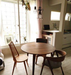 宮崎椅子製作所のhozukiテーブルとboチェアをウォールナット材で作りました